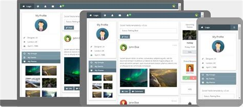 W3 Css Templates Social Network Website Design Template