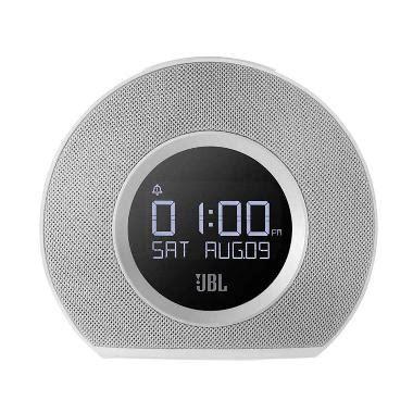 Speaker Bluetooth Led Meja Jam Radio Fm Dan Alarm jual jbl horizon bluetooth clock radio with 2 usb port fast charger ambient light speaker