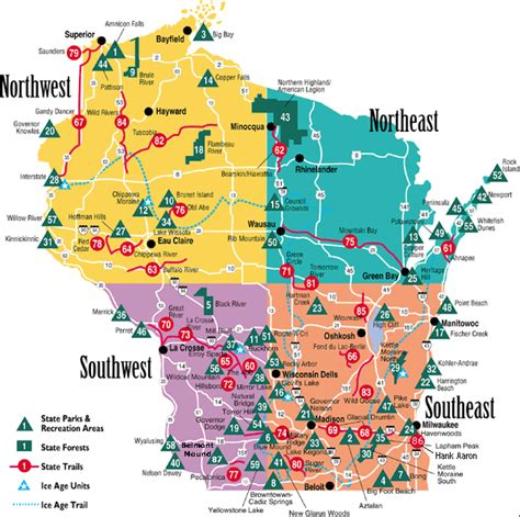 parks wi 29 innovative map of wisconsin state parks afputra