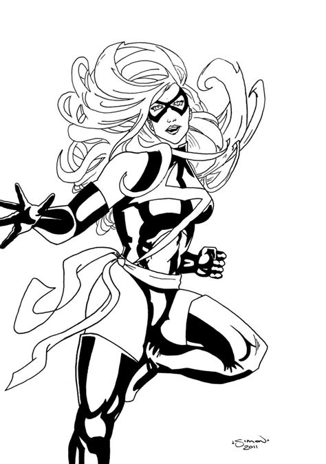miss marvel coloring pages ms marvel free coloring pages