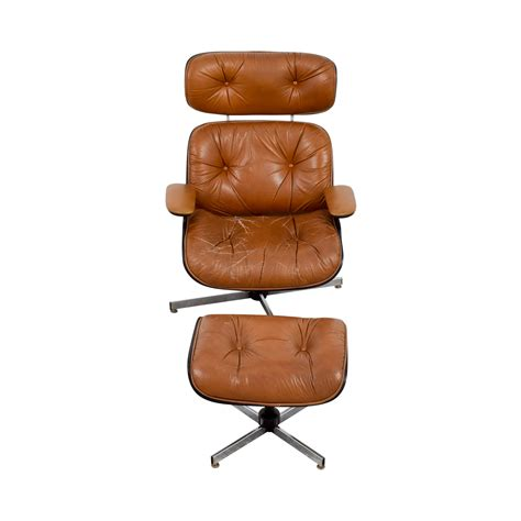 second hand ottoman 69 off eames replica leather chair with ottoman chairs