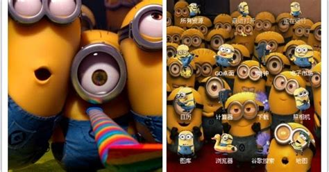 themes android minions theme android minion born this way