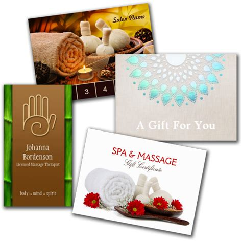 Gift Card For Massage - shop business cards massage and spa business cards