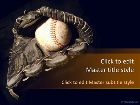 powerpoint templates baseball free baseball field ppt template