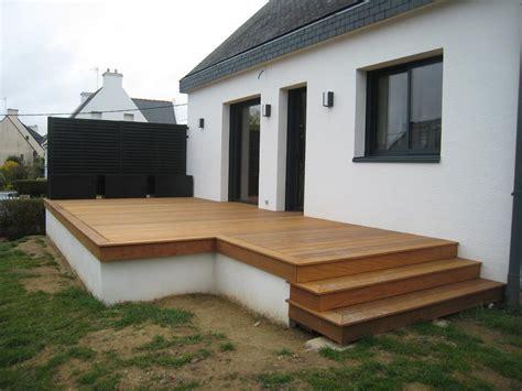 agrandir une terrasse surelevee 4530 nivrem terrasse bois surelevee diverses id 233 es de
