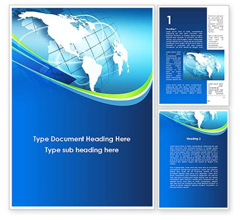 Company Presentation Word Template 10183 Poweredtemplate Com Word Powerpoint Templates