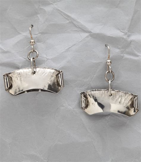 Handcrafted Modern - handcrafted sterling silver modern pod earrings finely