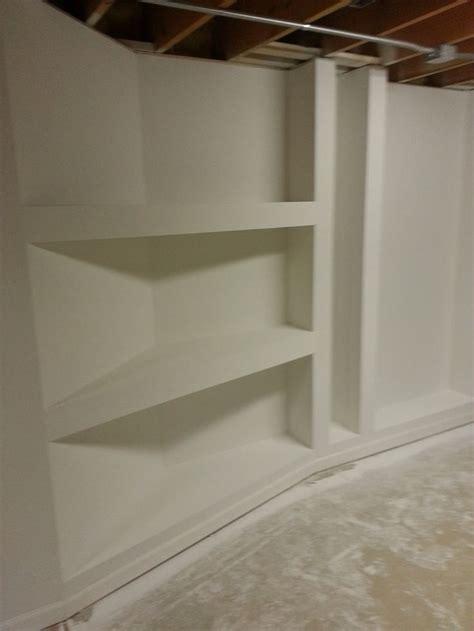 Drywall Shelf goodens basement drywall shelves diy construction