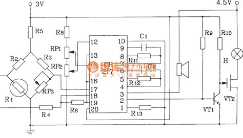 gas sensor integrated circuit gas gas detection alarm circuit using ch217 monolithic gas gas detection alarm integrated