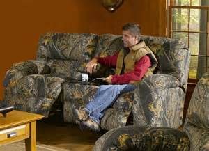 camo loveseat recliner lodge console reclining seat in camouflage cover by