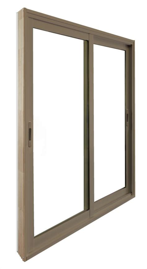 5 Ft Patio Door Stanley Doors Sliding Patio Door 5 Ft 60 In X 80 In Sandstone The Home Depot Canada