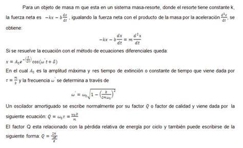 formula oscilacion amortiguada movimiento oscilatorio monografias