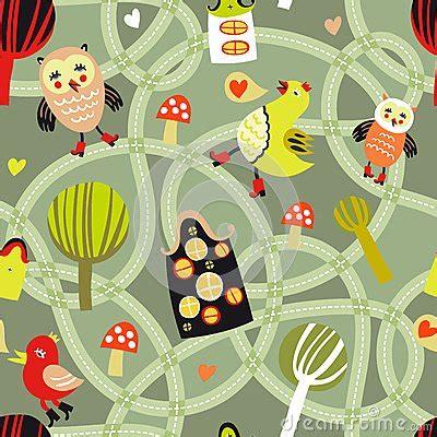 Kunst Mit Nägeln by Nahtloses Muster Der Stra 223 E Mit H 228 Usern Und V 246 Geln