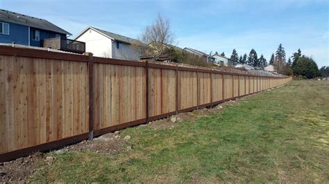 big fence fence for spanaway housing development ajb landscaping fence