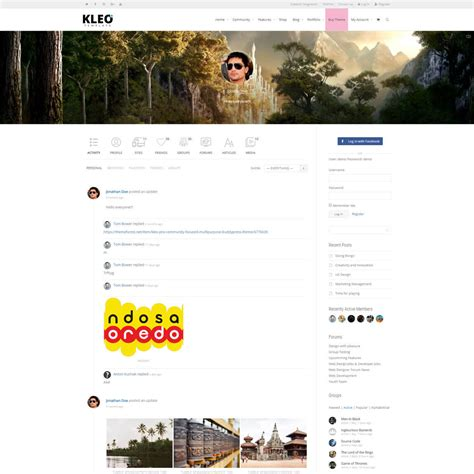 theme wordpress kleo 10 best buddypress themes for community sites plus bbpress
