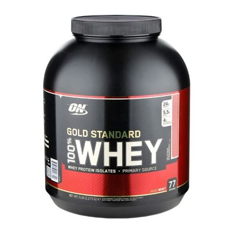 Whey Optimum Nutrition Optimum Nutrition 100 Whey Gold Delicious Strawberry Powder