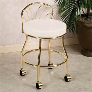 Rolling Vanity Chair Back Rolling Vanity Stool Homesfeed