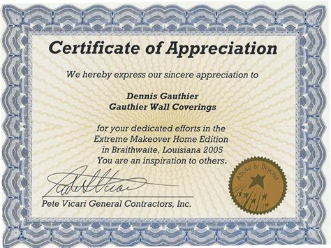 certificate of appreciation templates for word makeover home edition episode 19 the leslie