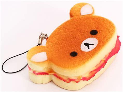 Rilakkuma Sandwich rilakkuma sandwich bread pink squishy charm food