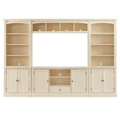 Home Depot Home Decorators home decorators collection edinburgh 6 ivory modular entertainment center 3062300410 the