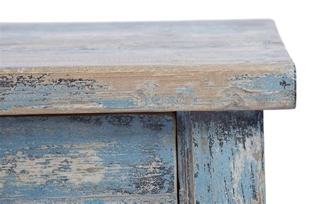 distressed blue console light blue console table with drawers hand painted