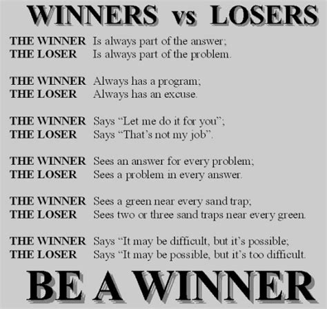 Loser To Winner by Winners And Losers Quotes Quotesgram