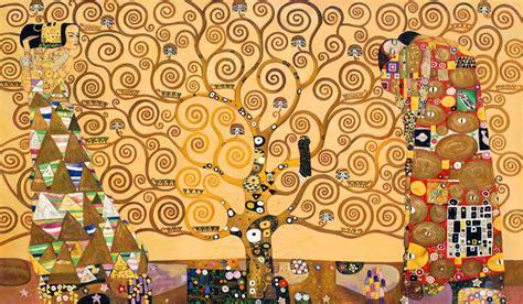klimt la matrimonio tema albero della vita panorama sposi