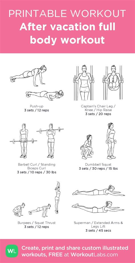 164 best images about free printable workouts on