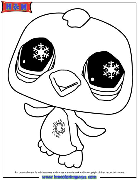 free printable coloring pages littlest pet shop littlest pet shop penguin coloring page free printable
