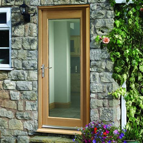 Pattern 10 Oak Door with Clear Safety Double Glazing