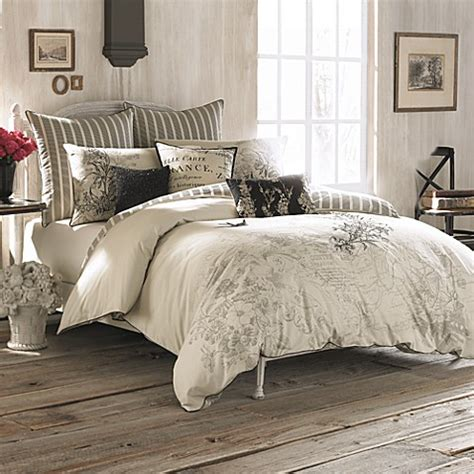 bed bath and beyond paris bedding anthology amour embroidered reversible comforter set