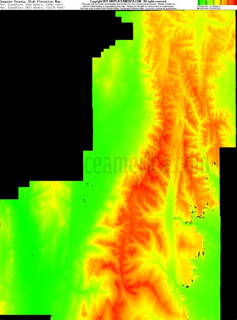 utah elevation map free sanpete county utah topo maps elevations