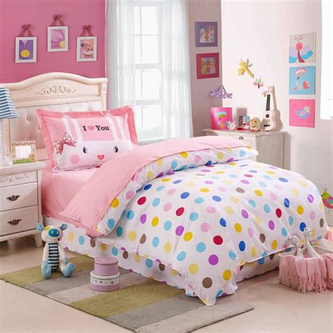 cute girl comforter sets kids colorful polka dot cute comforter bedding sets twin