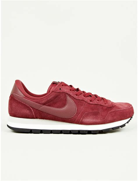 burgundy sneakers nike nike mens burgundy air pegasus 83 suede sneakers in purple