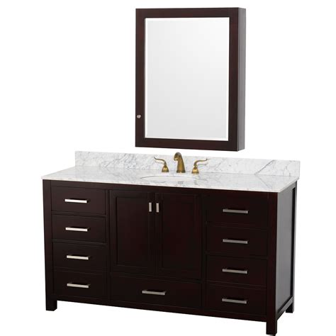 Vanity Medicine Cabinet Wyndham Collection 60 Inch Abingdon Bathroom Vanity Wc