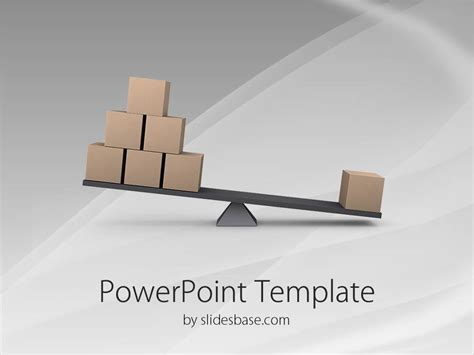powerpoint template for lost balance powerpoint template slidesbase