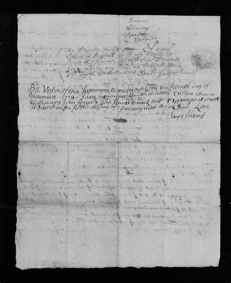 Bristol County Court Records Bristol County Ma Court Records October 30 1704