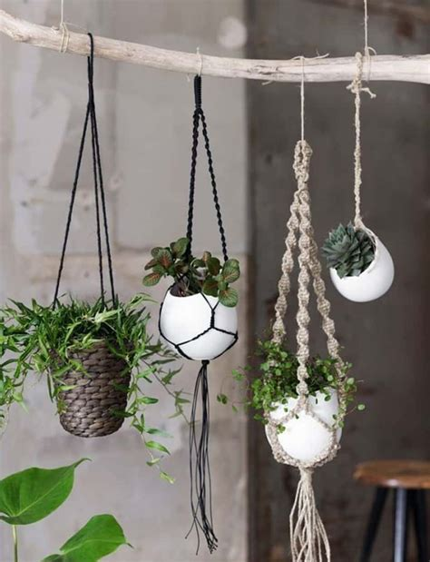 Macramé Plant Hangers - macrame plant hanger patterns to embellish any rustic or