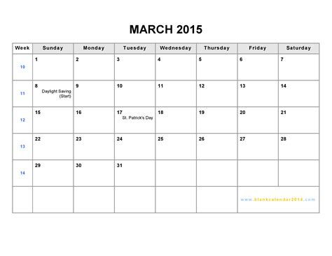 printable monthly calendars 2015 pdf 6 best images of march 2015 calendar printable free pdf