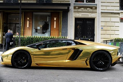 lamborghini customised gold plated lamborghini spotted in with customised