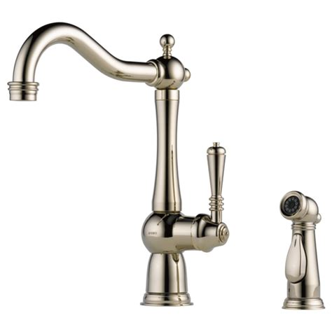 brizo tresa kitchen faucet single handle kitchen faucet with spray 61136lf pn