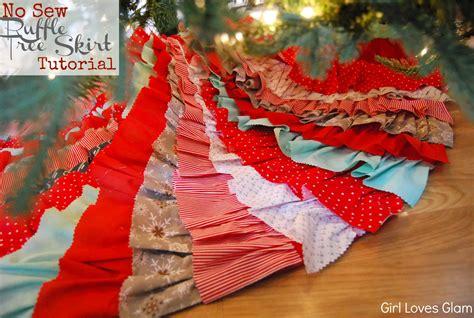 christmas tree from fishing line tutorial no sew ruffle tree skirt tutorial ish glam