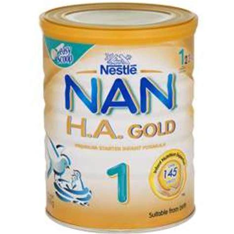 nestle nan h a 1 gold 0 6 months with bifidus bl formula 800g woolworths