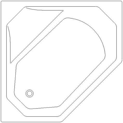 vasca angolare dwg vasca angolare in pianta formato dwg 1 30 1 30