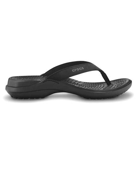 Crocs On Sale From Shoebuycom Now by Crocs Iv Flip Flops Black On Sale Now Ebay