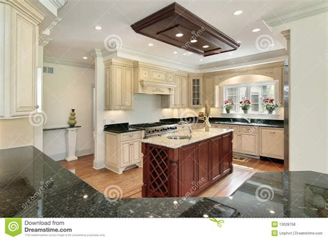 centre islands for kitchens kitchen with center island royalty free stock photos