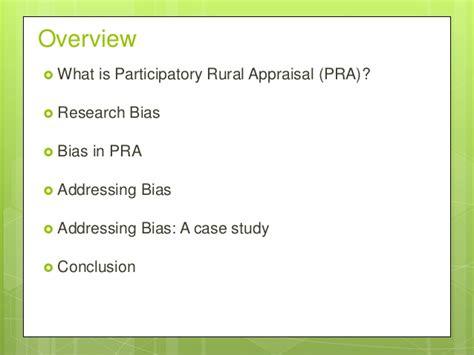 Pra Participatory Rural Appraisal Moehar Daniel Original addressing researcher bias in participatory rural appraisal