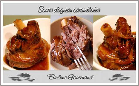 comment cuisiner souris d agneau souris d agneau caram 233 lis 233 es recette