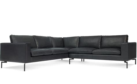 Leather Sofa Small by New Standard Small Sectional Leather Sofa Hivemodern
