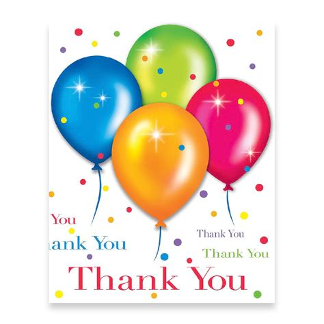 Thank You Cards For Birthday Birthday Balloons Thank You Cards Balloon Themed Party